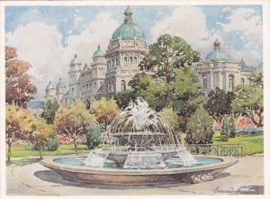 Artist Edward GOODALL; Parliament Buildings , VICTORIA , B.C. , Canada , 30-50s
