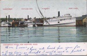 New Bedford, Mass., Steam Boat Piers-Nantucket-Cottage City-Nonquitt, 1908