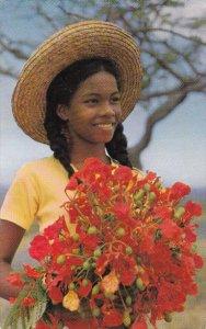 MARTINIQUE , PU-1965 ; L´Enfant aux Fleurs (flamboyant)