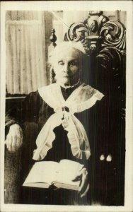 Women's Voting Suffrage Pioneer Suffragette Amelia Lemon Burritt RPPC Canada