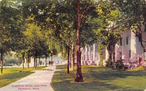 Petoskey Michigan~Column After Column on the Cushman Hotel~Park~1910 Postcard