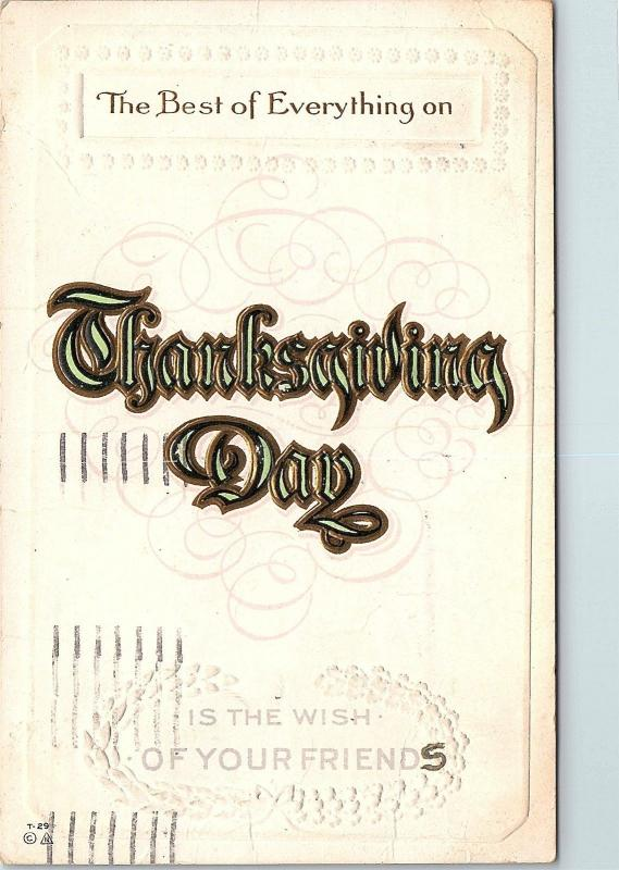 Postcard Best Of Everything On Thanksgiving Is The Wish Of Your Friends Cream Q6