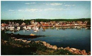 Lot 3 Rockport Maine Port & Headlands Très Grande Carte Postale