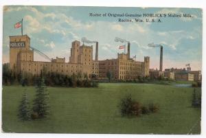 Racine Wisconsin Horlicks Malted Milk Factory Antique Postcard (J5222)