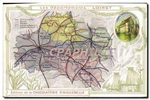 Postcard Old MAPS Chocolaterie d & # 39Aiguebelle Loiret Sully sur Loire