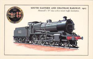 England South Eastern and Chatham Railway 1917 Maunsell's N Class 2-6-0 Mixed...