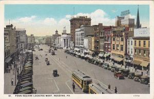 Penn Square Looking West , READING , Pennsylvania , 1900-10s