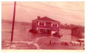 Flood Disaster  Residential House , Original Photo