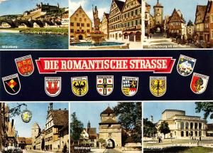 Die Romantische Strasse, Rothenburg ob der Tauber Augsburg Noerdlingen Wuerzburg