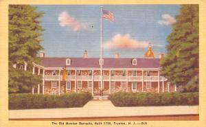 Trenton New Jersey~Old Hession Barracks~Revolutionary War~1940s Linen Postcard
