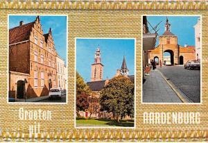 Netherlands Groeten uit Aardenburg, Street Auto Cars Gate Church