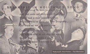 California Hollywood Tom Brennan's Breakfeast In Hollywood Song