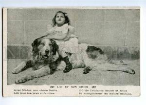 145750 Saint BERNARD Girl LILI on Dog St. Bernard Vintage PC