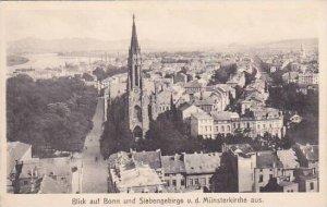 Germany Bonn Blick und Siebengebirge von der Muensterkirche aus