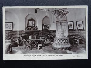 Kent CHATHAM Royal Naval Barrack RECEPTION ROOM Old RP Postcard by Gale & Polden