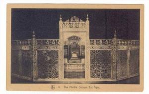 The Marble Screen Taj Agra, India, 1900-1910s