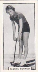 B A T Cigarette Card Modern Beauties No 8 Florine McKinney