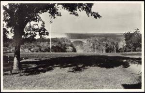 rhodesia, Victoria Falls, View from the Hotel Verandah, Bridge (1930s) RPPC
