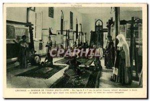 Old Postcard Tunisia Carthage High wool weaving Ouvroir