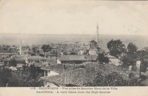 SALONICA, Greece, 1900-10s; View taken from the High Quarter