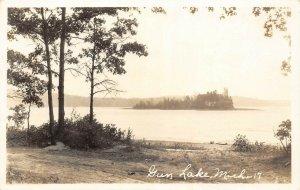 LP61 Gun Lake   Michigan  Postcard RPPC view