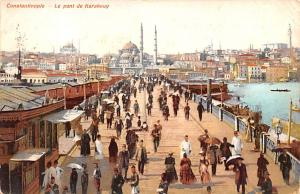 Turkey Old Vintage Antique Post Card Le Pont de Karakeuy Constantinople 1910 ...