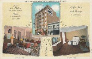 SAN FRANCISCO, California, 1900-10s; Hotel La Salle, 3-views