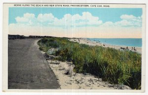 Provincetown, Cape Cod, Mass, Scene Along The Beach and New State Road