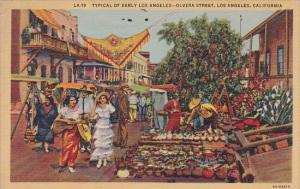California Los Angeles Typical Of Early Los Angeles Olvera Street 1944