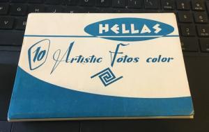 Vintage Postcard set From Hellas, 10 Artistic Fotos Color , Greece Postcards