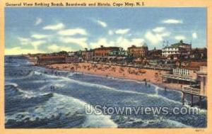 Bathing Beach  Cape May NJ 1953
