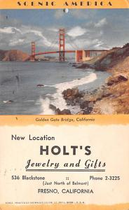 Holt's Jewelry and Gifts Advertising 1950