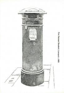 Postcard, First National Standard Post Box Illustration, Liverpool c1863 77R