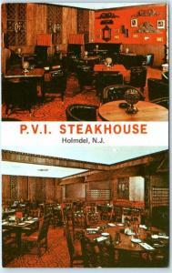 HOLMDEL, New Jersey NJ   Interior P.V.I. STEAKHOUSE Pleasant Valley Inn Postcard