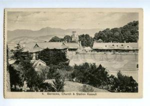 147313 INDIA KASAULI Church & Station Vintage postcard