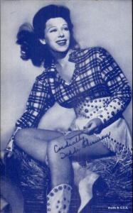 Cowgirl Western Movie Actress Mutoscope Exhibit Card - Diddi Sherman