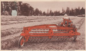 Allis-Chalmers New Power-Driven Side-Delivery Rake & Tedder , 1948