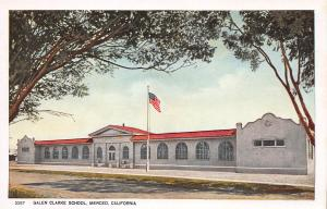 Galen Clarke School, Merced, California, Early Postcard, Unused