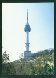 South Korea Seoul Tower Building Vintage Korean Postcard