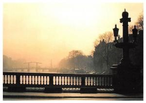 Netherlands Amsterdam Blauwbrug Ponts Bridges River Cars Panorama