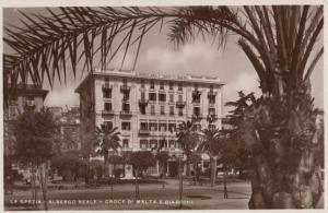 Malta La Spezia E Giardini Albergo Reale Hotel Real Photo Old Postcard