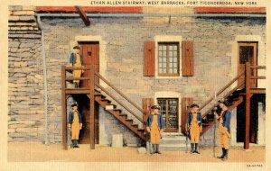NY - Fort Ticonderoga. West Barracks, Ethan Allen Stairway