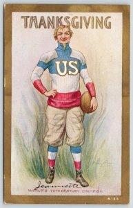 Patriotic Thanksgiving~Uncle Sam in RWB Football Uniform~Team US~Champion~Artist