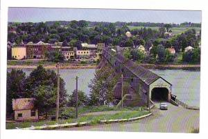 Longest Covered Bridge in the World, Hartland, 50's Car, New Brunswick, Lewis...