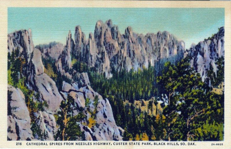 [ Linen ] US So. Dakota Black Hills - Cathedral Spires