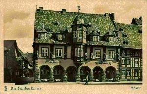 Goslar Hotel Kaiser Worth Aus deutschen landen Fountain Postcard