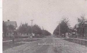 Ohio Spencerville Main Street Looking North 1907