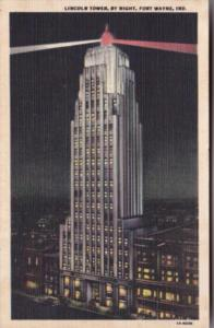 Indiana Fort Wayne Lincoln Tower By Night