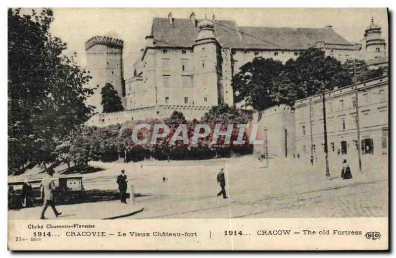 VINTAGE POSTCARD Cracow the Old Strong Castle Poland