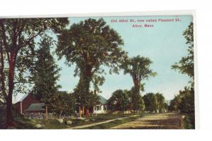 P783 old card athol mass pleasant street scene dirt road
